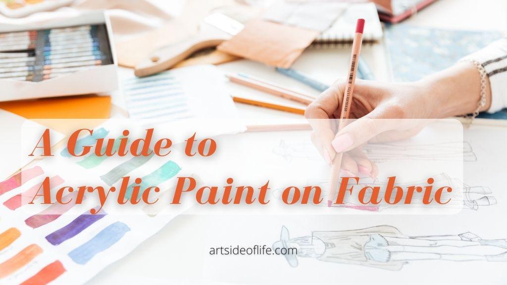 Acrylic Paint on Fabric Art Side of Life